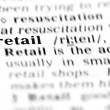 Stock Photo: Retail word dictionary