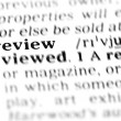 Stock Photo: Review word dictionary