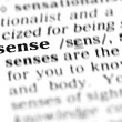 Sense word dictionary - Stock Photo