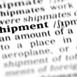 Shipment word dictionary — Stock Photo
