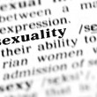 Sexuality word dictionary — Stock Photo