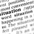 Stock Photo: Situation word dictionary