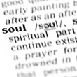 Stock Photo: Soul word dictionary