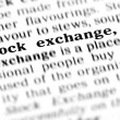 Stock exchange  word dictionary — Stock Photo