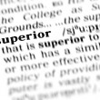Superior word dictionary — Stock Photo #19645503