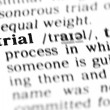 Trial  word dictionary — Stock Photo
