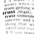 Trust word dictionary — Stock Photo