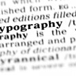 Stock Photo: Typography word dictionary
