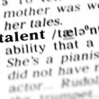Talent  word dictionary — Stock Photo