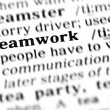 Stock Photo: Teamwork word dictionary