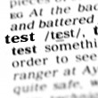 Test word dictionary — Stock Photo #19645663