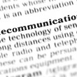 Stock Photo: Telecommunications word dictionary