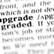 Stock Photo: Upgrade word dictionary
