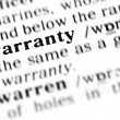 Warranty word dictionary — Stock Photo