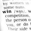 Stock Photo: Win word dictionary