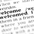 Welcome word dictionary — Foto de stock #19645777