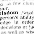Stock Photo: Wisdom word dictionary