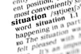 Situation word dictionary — Stock Photo