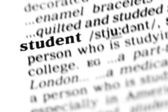 Student word dictionary — Stock Photo