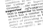 Superior word dictionary — Stock Photo