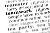Teamwork word dictionary — Stock Photo