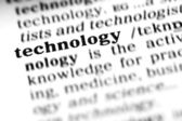 Technology word dictionary — Stock Photo