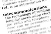 Telecommunications word dictionary — Stock Photo
