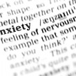 Anxiety word dictionary — Stock Photo