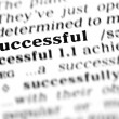 Successful  (the dictionary project) - Stock Photo