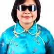 Chinese Woman portrait, wearing sunglasses — Stock Photo