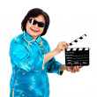 Chinese Woman ready for film  shooting — Stock Photo