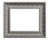 Cornice d'argento vecchio, isolato su bianco — Foto Stock