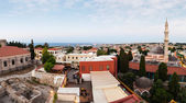 Panoramic View of the City of Rhodes island, — Stock Photo