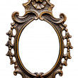 Old Oval Golden Frame, Isolated on White — Stock Photo