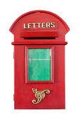 Retrò rosso letterbox — Foto Stock