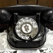 Very Old Antique Classic Telephone — Stock Photo