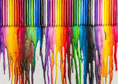 Melted Crayons Colorful Abstract — Stock Photo