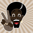 Black man shows peace - Stock Vector
