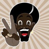 Black man shows peace — Stock Vector