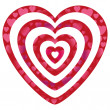 Valentine hearts on heart shapes — Stock Vector