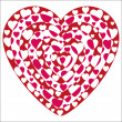 Stock Vector: Valentine heart shapes excluded