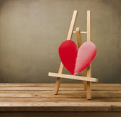 Background with paper heart — Stock Photo