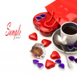 Valentine's Day composition — Stock Photo
