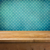 Background with wooden deck table — Stok fotoğraf