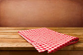 Retro background with wooden table — Stock Photo