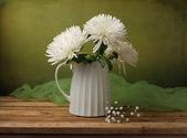 Still life with chrysanthemum flowers — Stock Photo