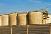 Wine vats over blue sky — Stock Photo