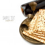 Matza and wine for passover seder celebration — Stock Photo
