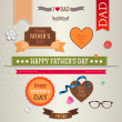 Set of vintage labels, badges and stickers for Father's day. — Stock Vector
