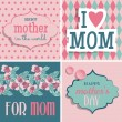 Royalty-Free Stock Vector Image: Set of greeting cards for Mother\'s Day.